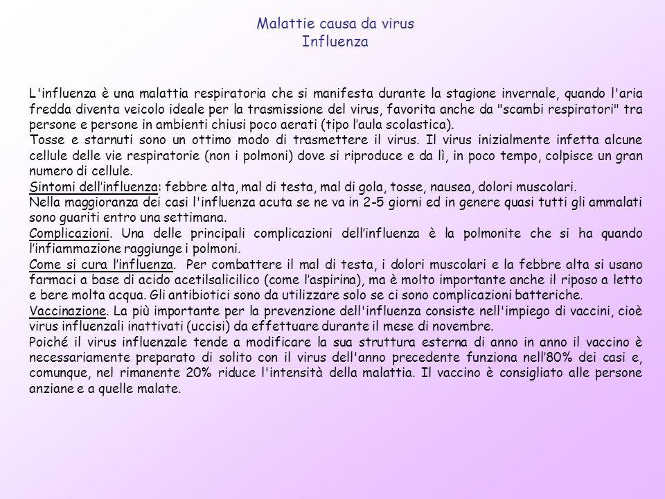 Malattie causa da virus