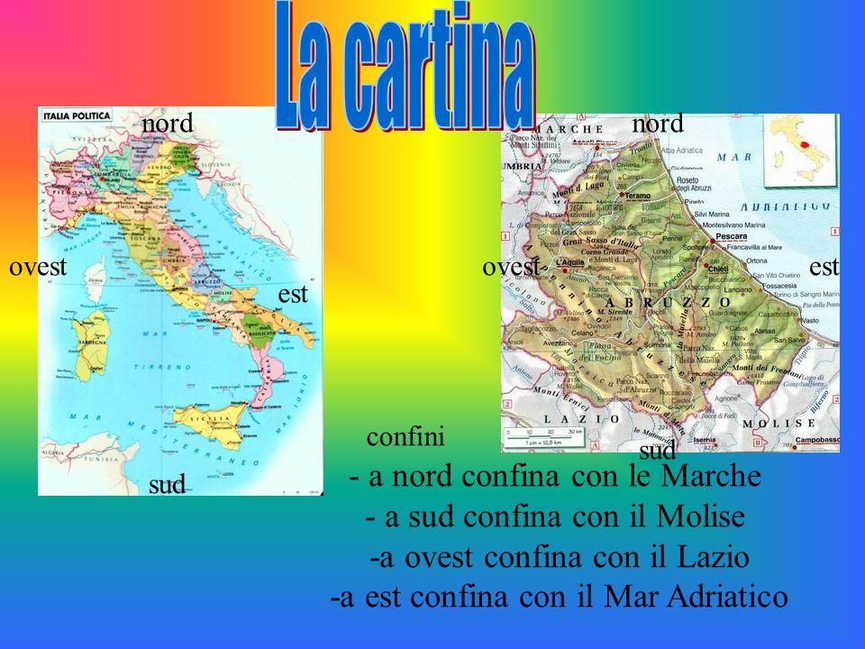 La cartina - a nord confina con le Marche