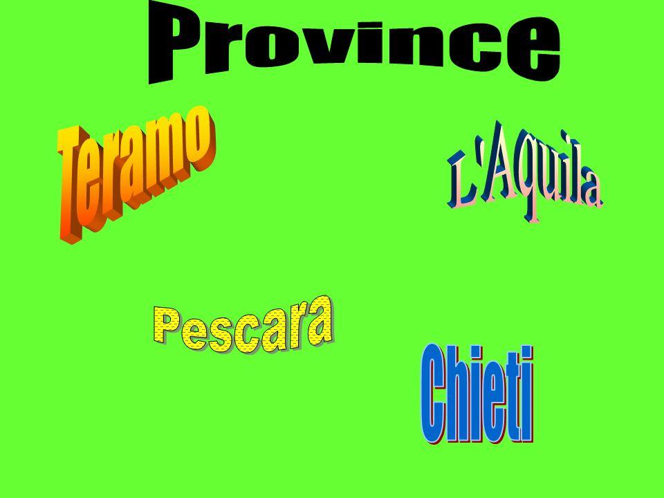 Province Teramo L Aquila Pescara Chieti