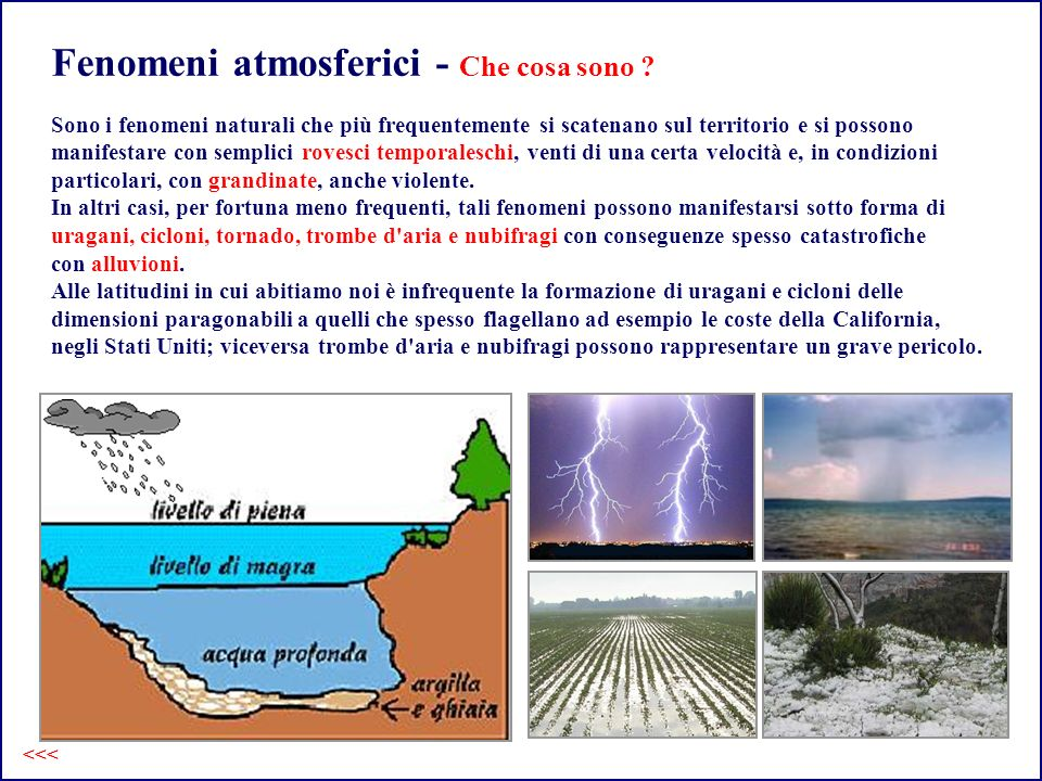Fenomeni atmosferici - Che cosa sono