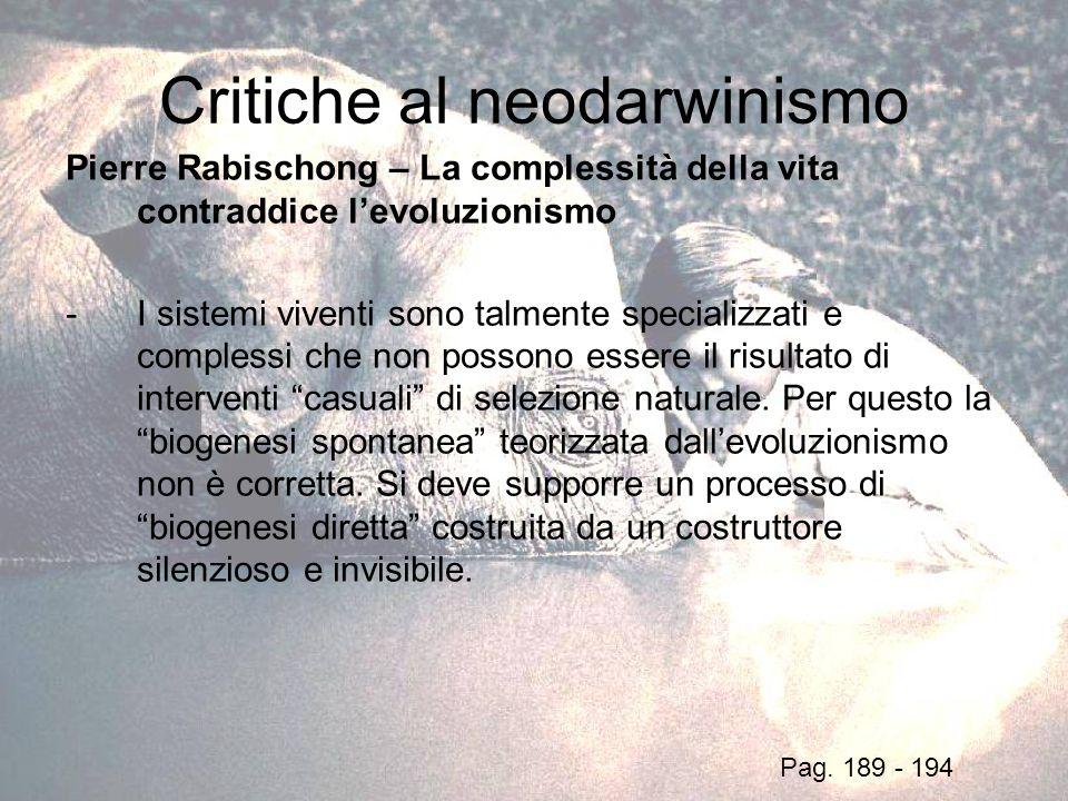 Critiche al neodarwinismo