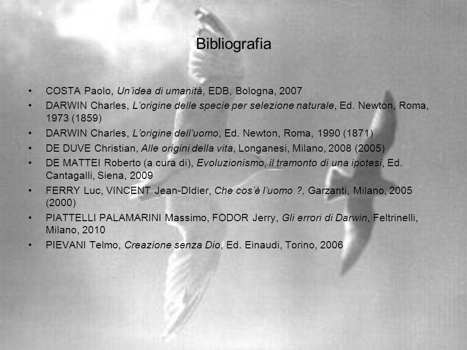 Bibliografia COSTA Paolo, Un'idea di umanità, EDB, Bologna, 2007
