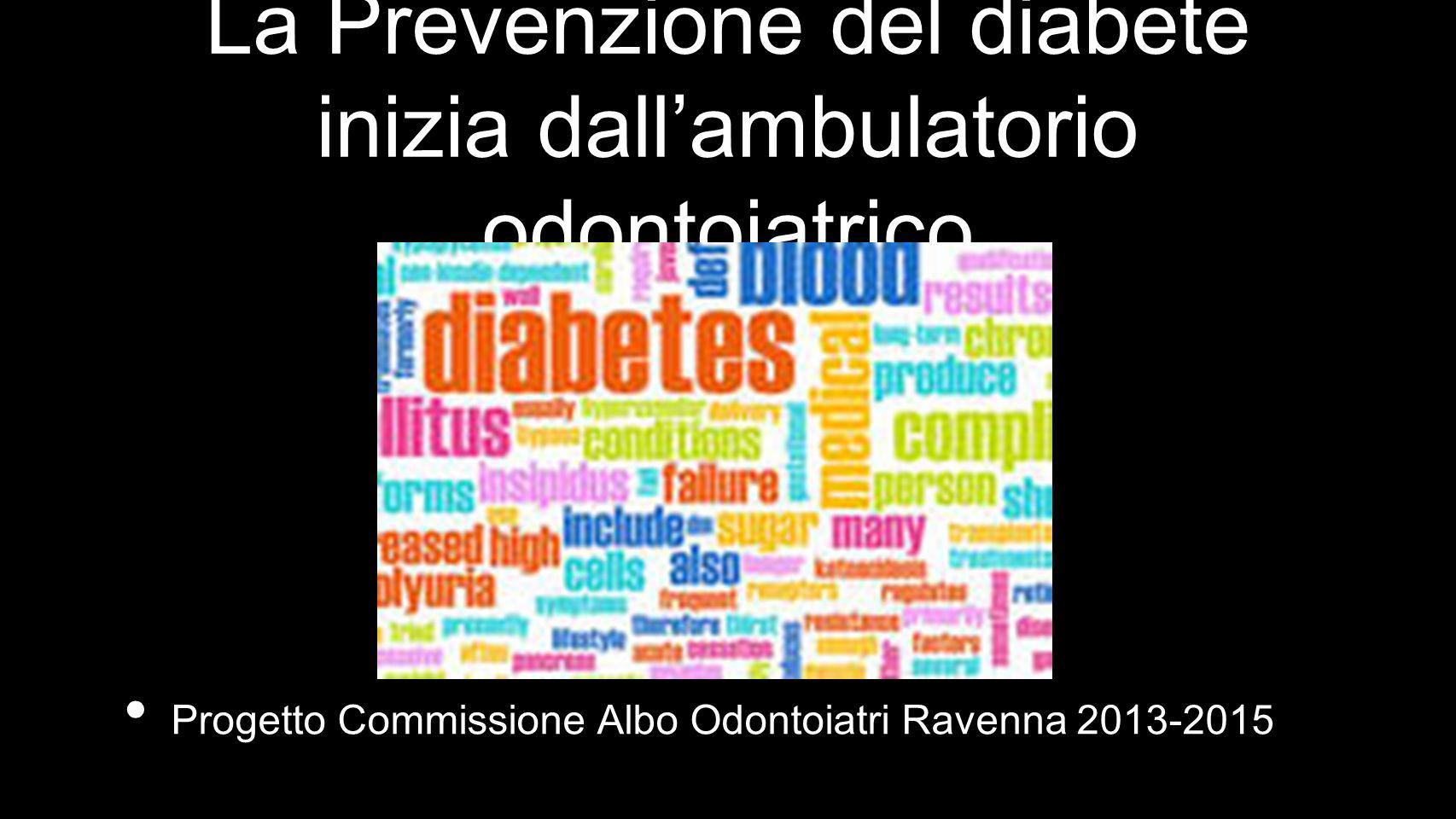 La Prevenzione del diabete inizia dall'ambulatorio odontoiatrico