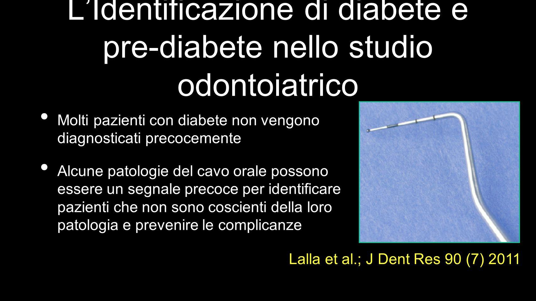 L'Identificazione di diabete e pre-diabete nello studio odontoiatrico