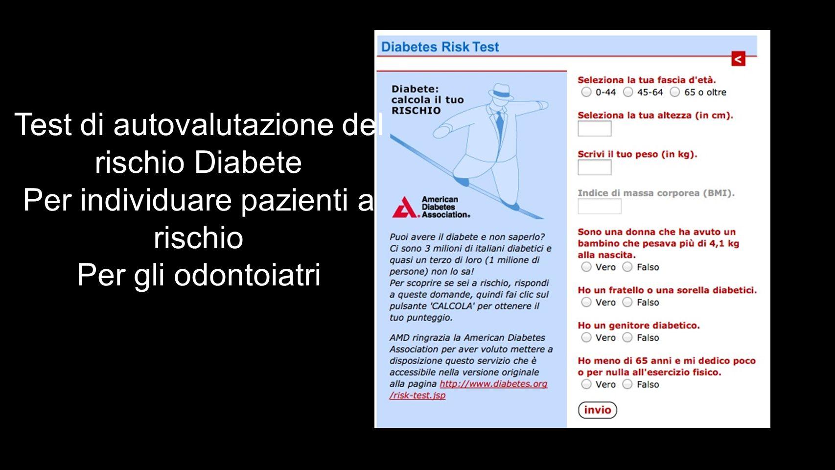 Test di autovalutazione del rischio Diabete