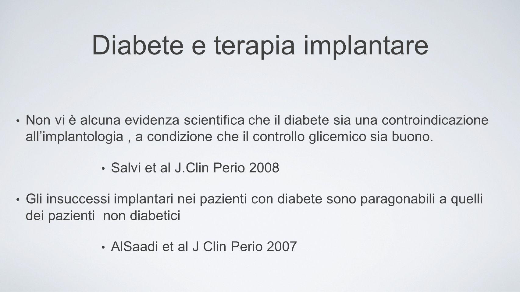Diabete e terapia implantare