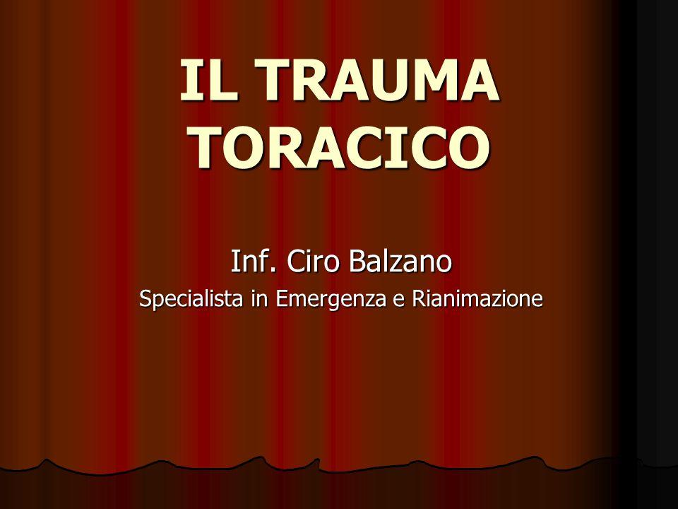 Inf. Ciro Balzano Specialista in Emergenza e Rianimazione