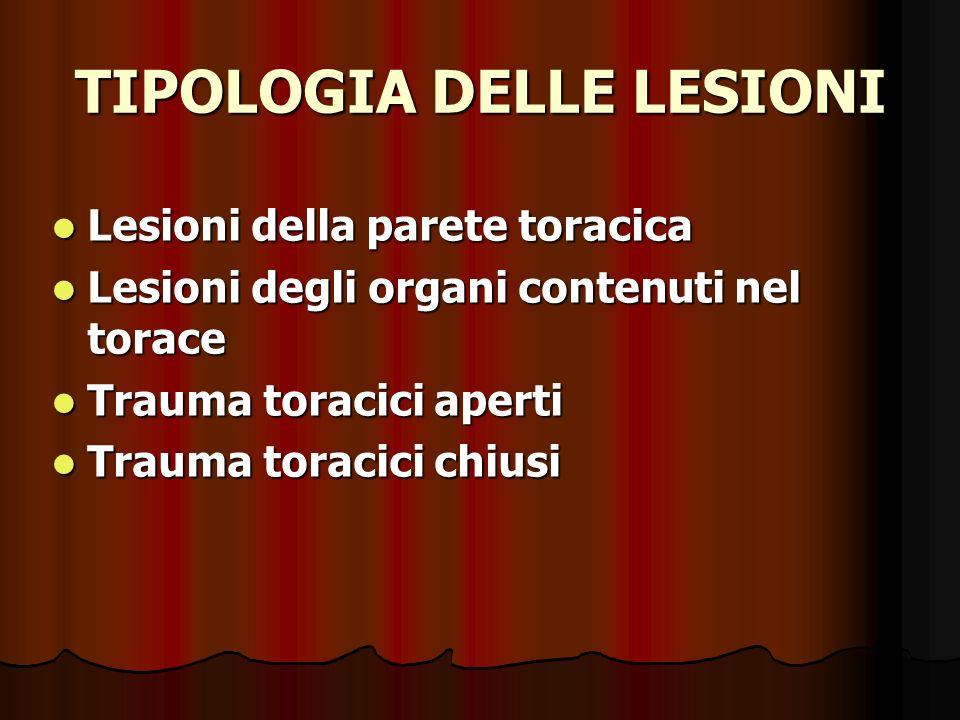 TIPOLOGIA DELLE LESIONI