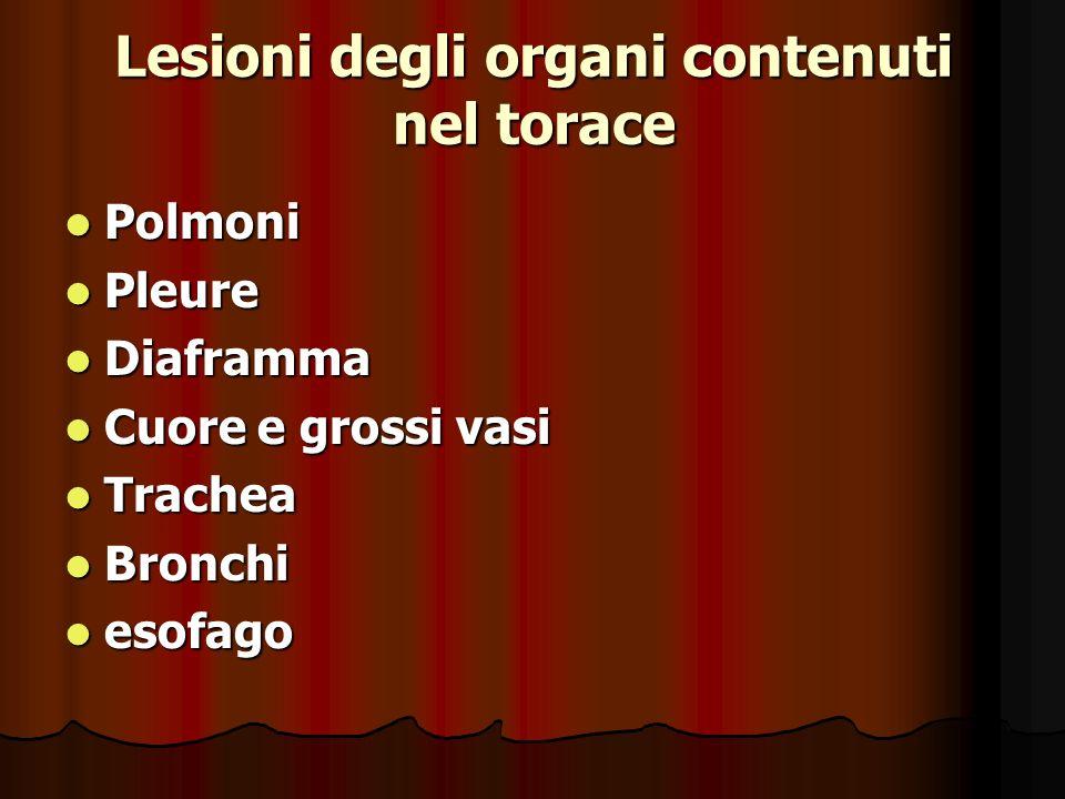 Lesioni degli organi contenuti nel torace