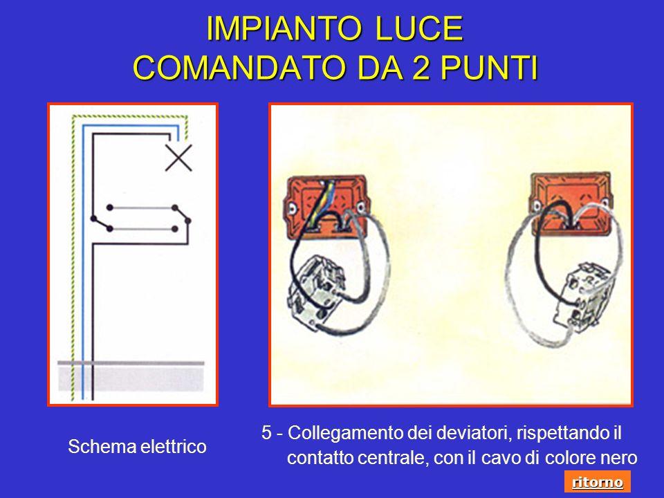 Schema Elettrico Deviatore 3 Punti : Esecuzione degli impianti luce ppt scaricare