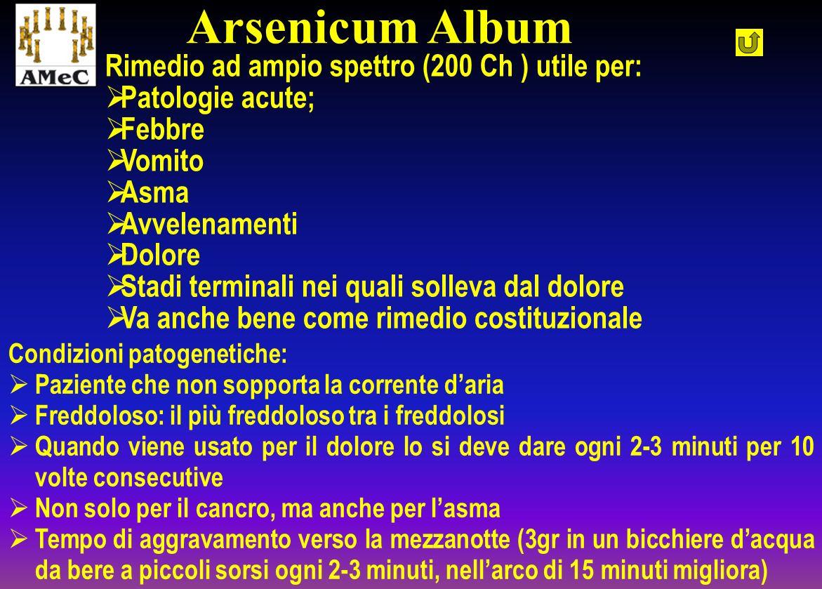 Arsenicum Album Rimedio ad ampio spettro (200 Ch ) utile per: