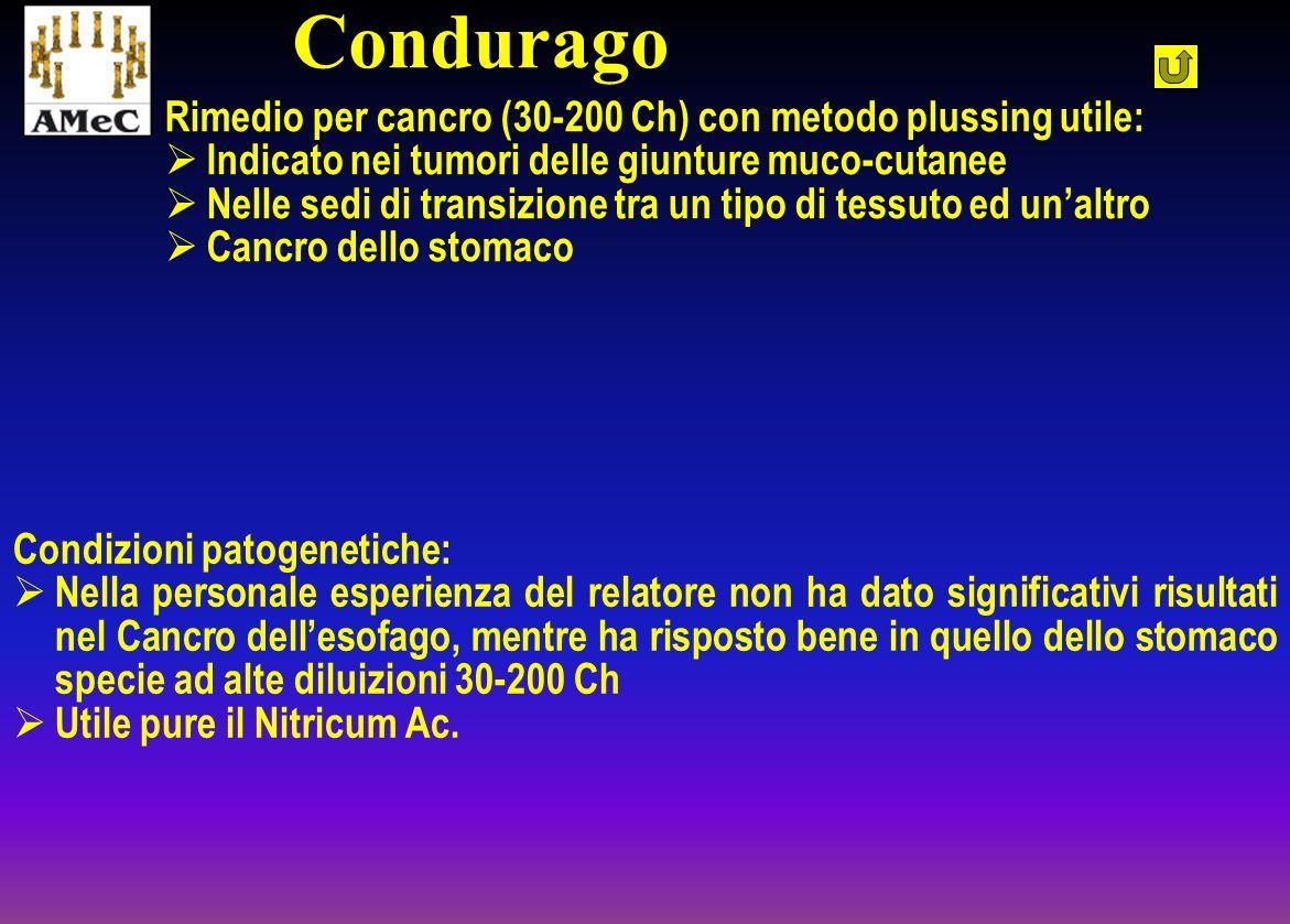 Condurago Rimedio per cancro (30-200 Ch) con metodo plussing utile: