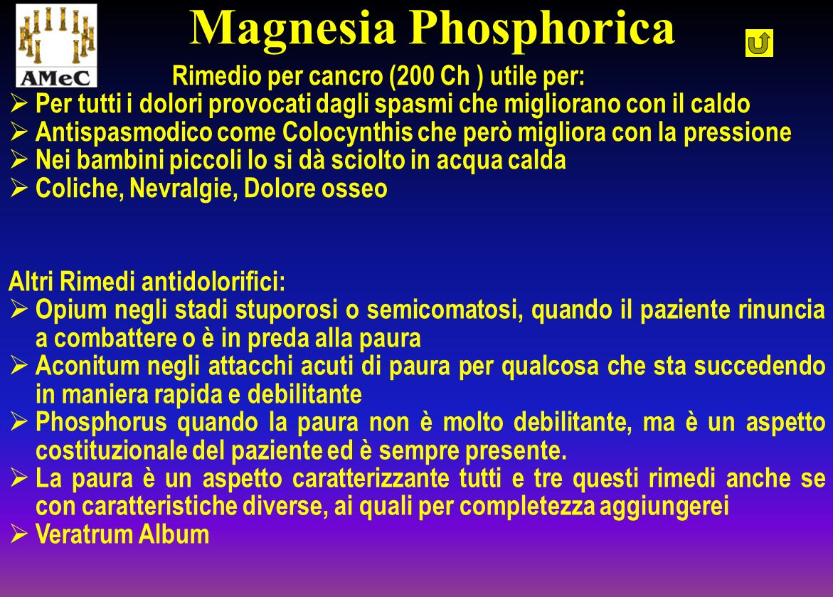Magnesia Phosphorica Rimedio per cancro (200 Ch ) utile per: