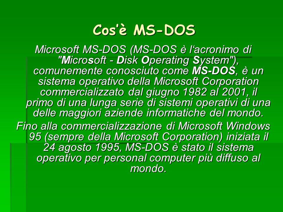 Cos'è MS-DOS
