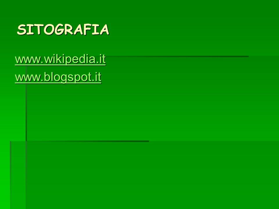 SITOGRAFIA www.wikipedia.it www.blogspot.it