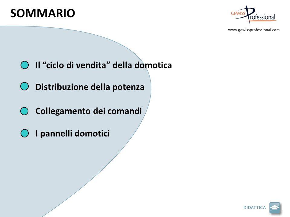 SOMMARIO Il ciclo di vendita della domotica