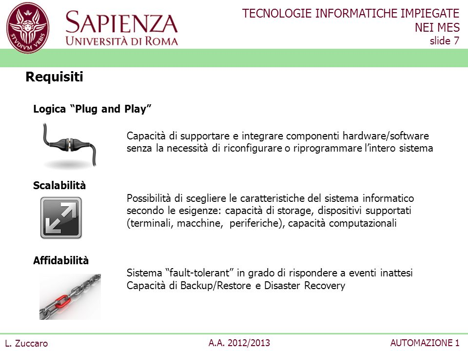 Requisiti Logica Plug and Play