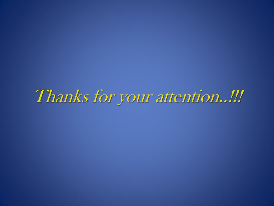 Thanks for your attention..!!!