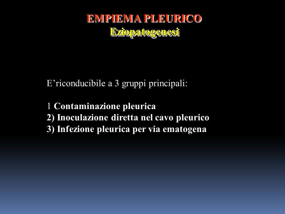 EMPIEMA PLEURICO Eziopatogenesi
