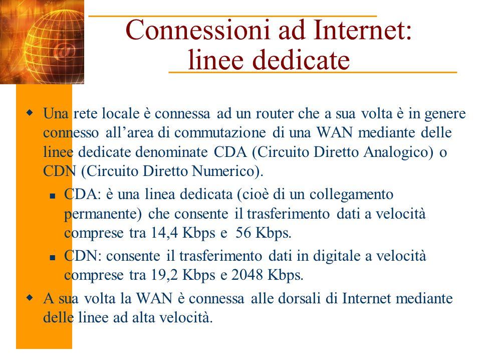 Connessioni ad Internet: linee dedicate
