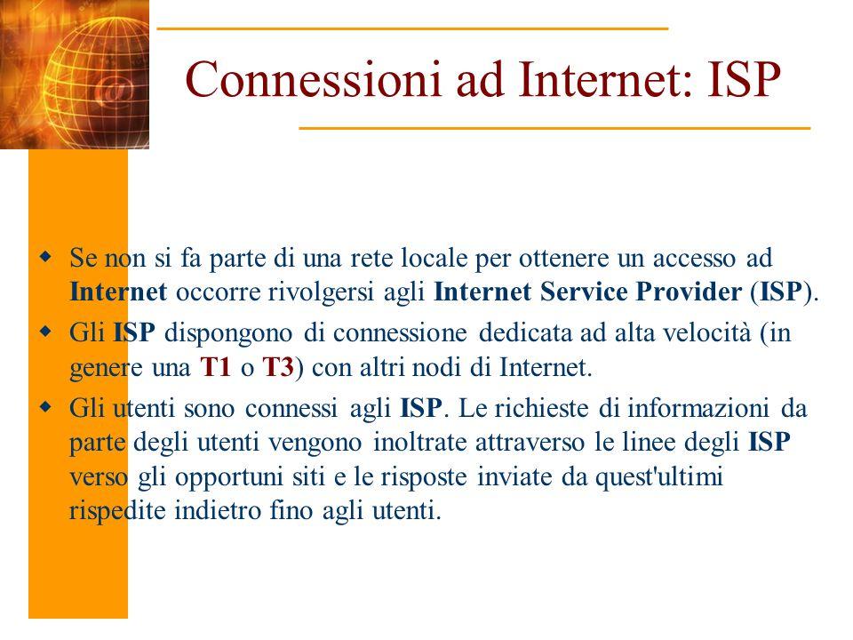 Connessioni ad Internet: ISP