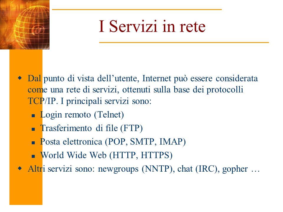I Servizi in rete