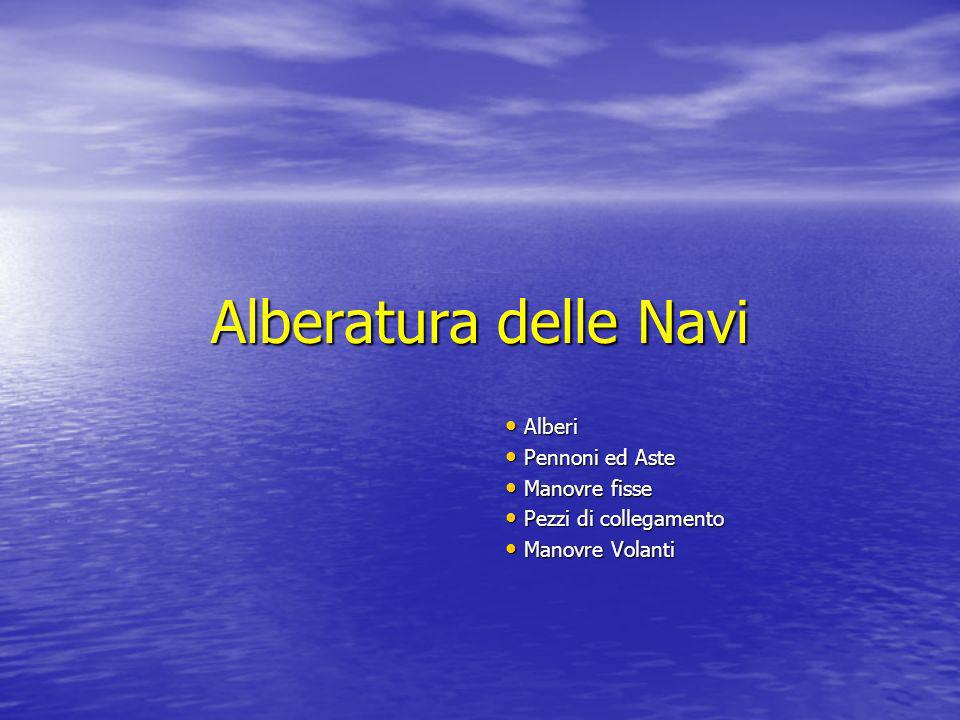 Alberatura delle Navi Alberi Pennoni ed Aste Manovre fisse