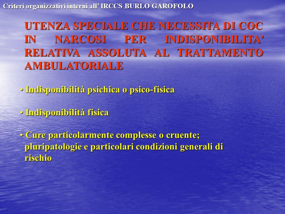 Criteri organizzativi interni all' IRCCS BURLO GAROFOLO