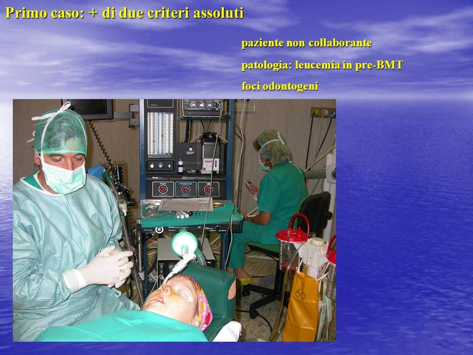 Primo caso: + di due criteri assoluti paziente non collaborante