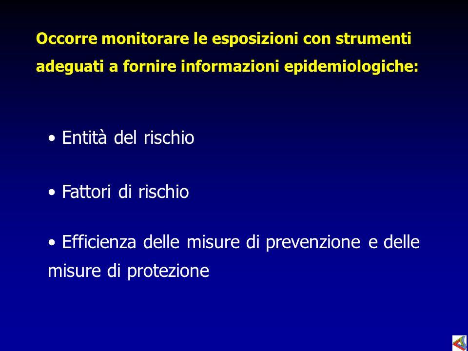 Efficienza delle misure di prevenzione e delle misure di protezione