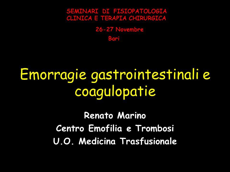 Emorragie gastrointestinali e coagulopatie