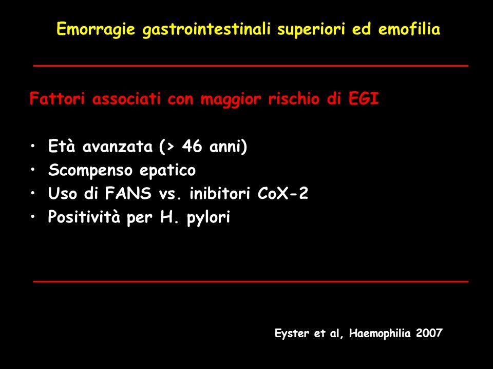 Emorragie gastrointestinali superiori ed emofilia