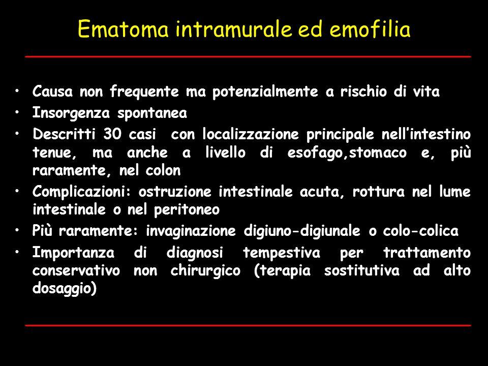 Ematoma intramurale ed emofilia