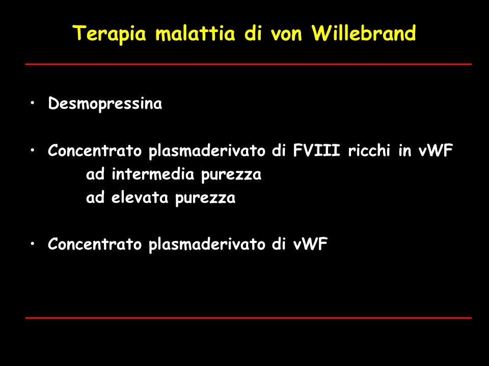 Terapia malattia di von Willebrand