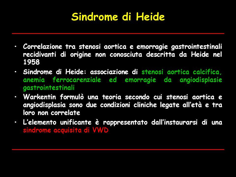Sindrome di Heide Correlazione tra stenosi aortica e emorragie gastrointestinali recidivanti di origine non conosciuta descritta da Heide nel 1958.