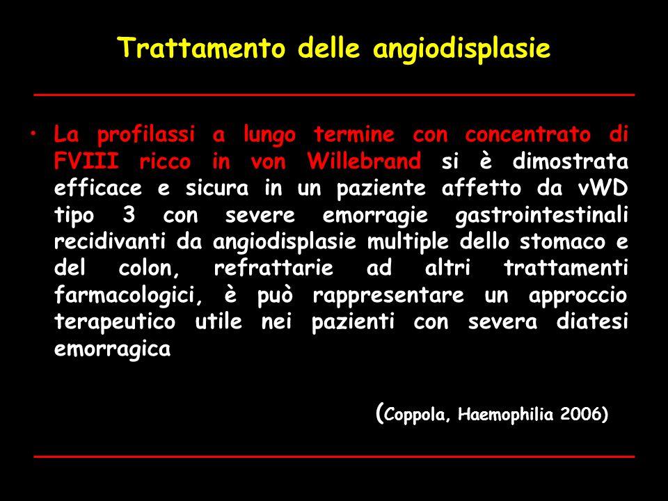 Trattamento delle angiodisplasie