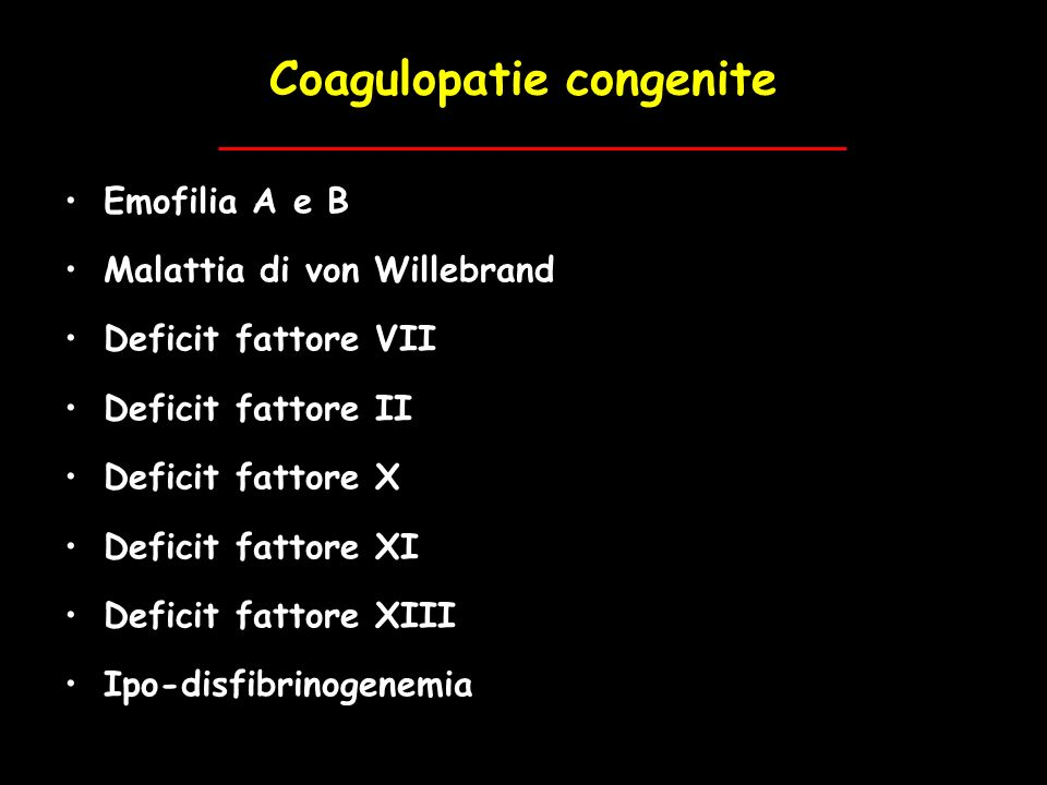 Coagulopatie congenite