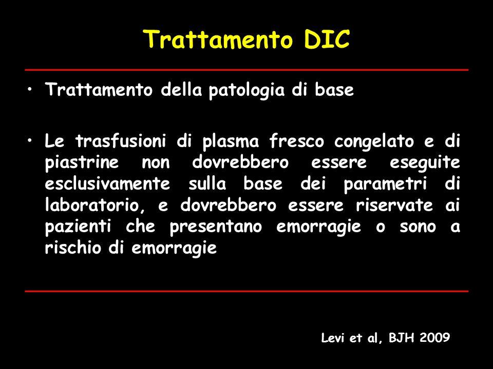 Trattamento DIC Trattamento della patologia di base