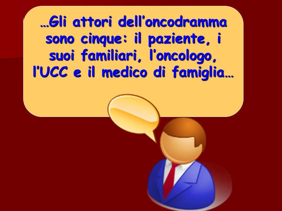 …Gli attori dell'oncodramma sono cinque: il paziente, i suoi familiari, l'oncologo, l'UCC e il medico di famiglia…
