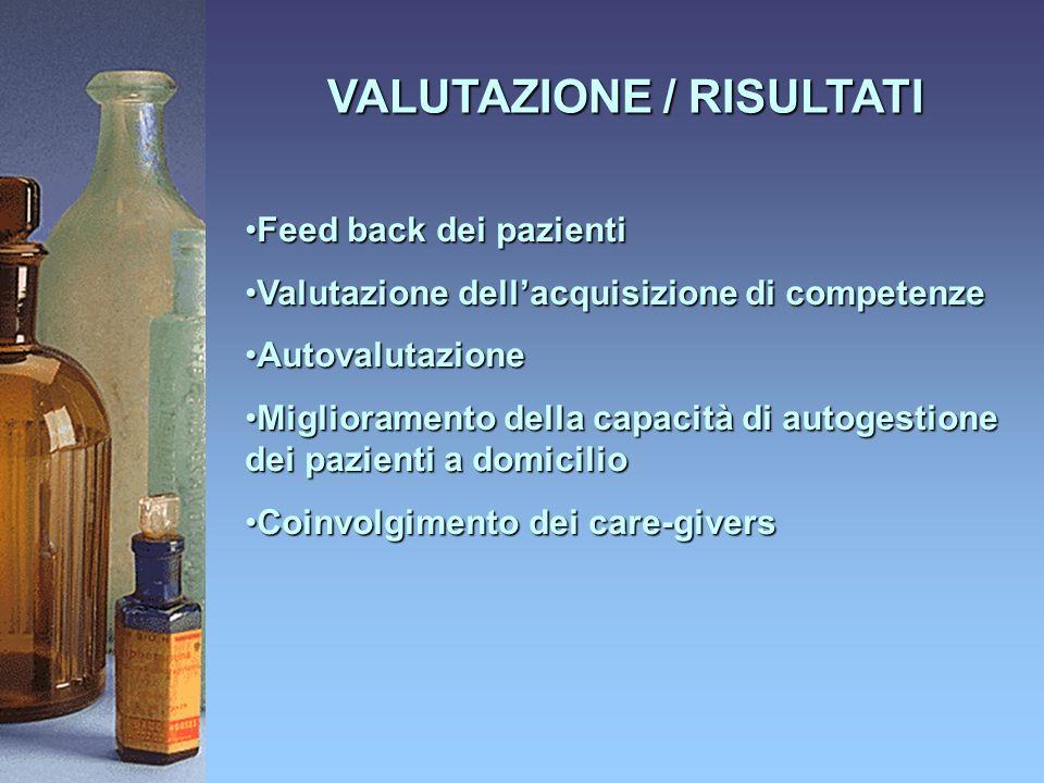 VALUTAZIONE / RISULTATI