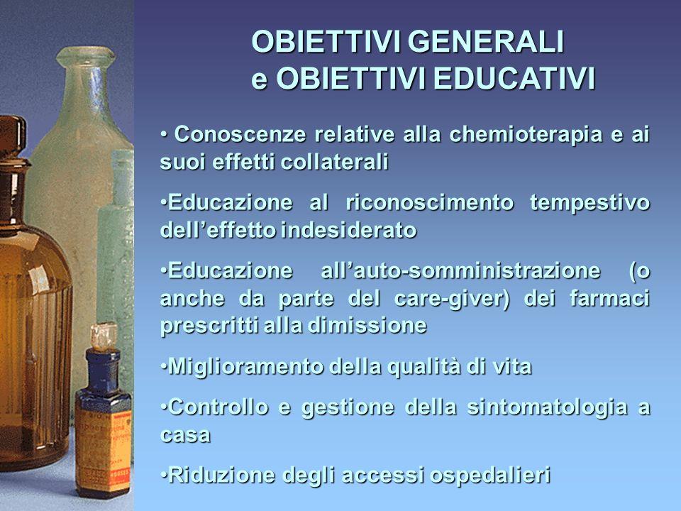 OBIETTIVI GENERALI e OBIETTIVI EDUCATIVI