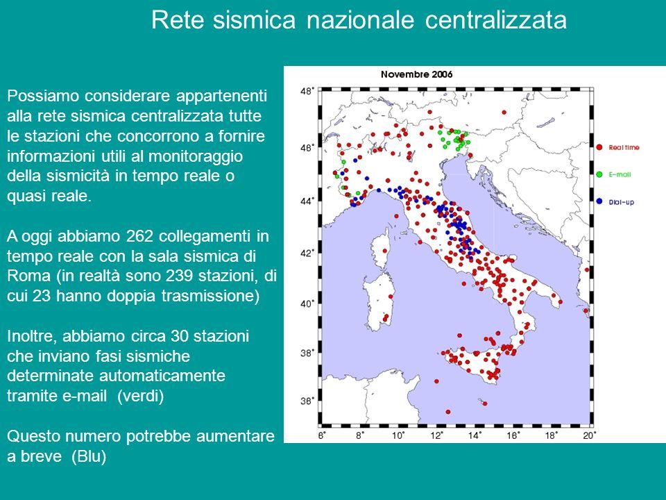 Rete sismica nazionale centralizzata