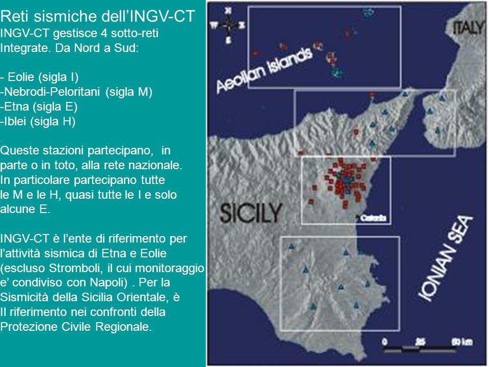 Reti sismiche dell'INGV-CT