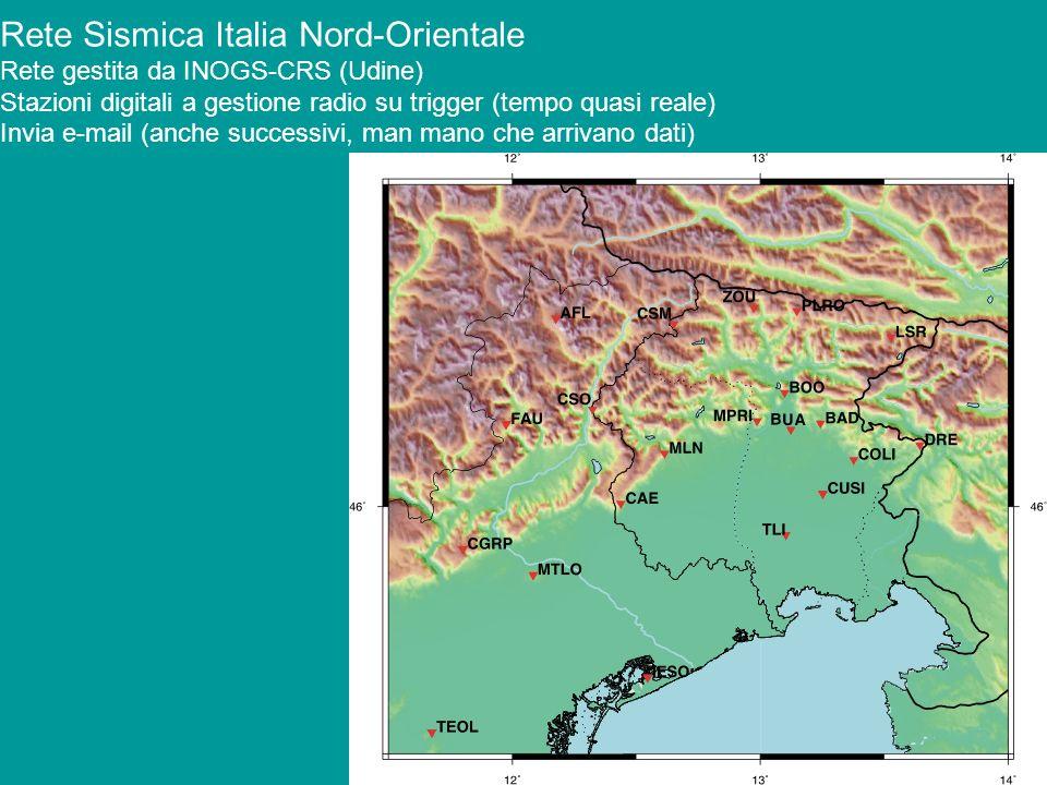 Rete Sismica Italia Nord-Orientale