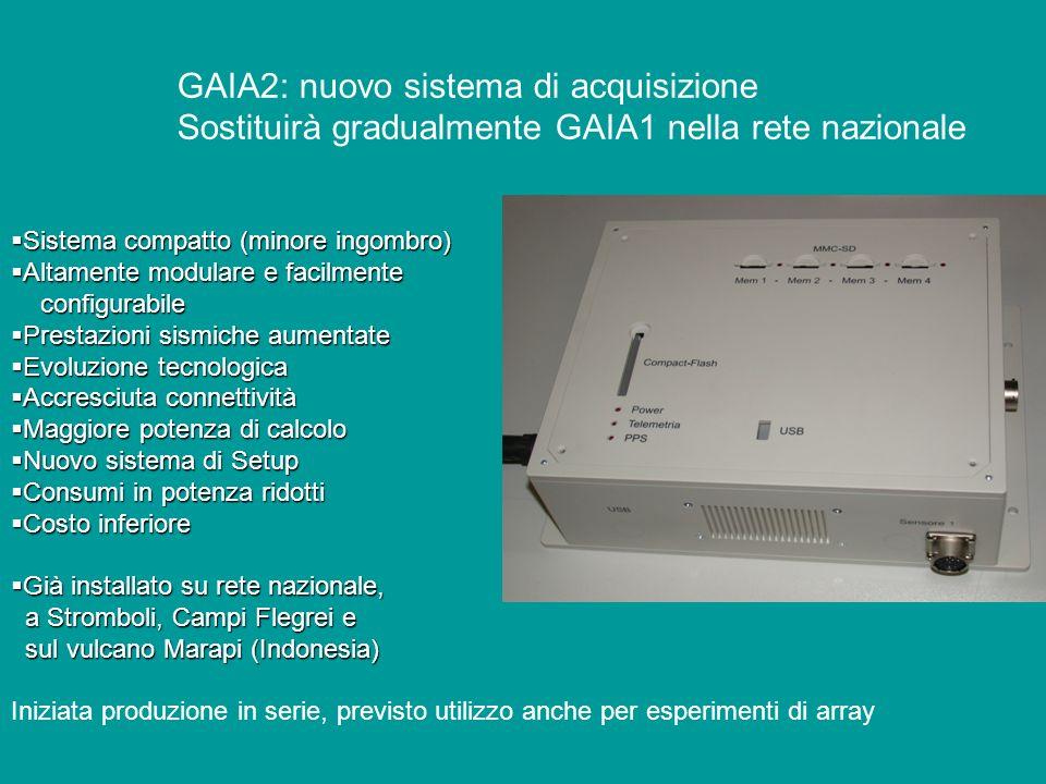 GAIA2: nuovo sistema di acquisizione