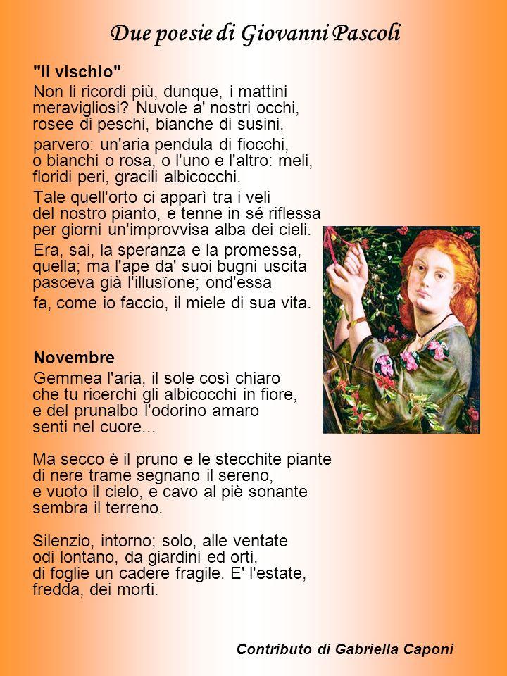 Due poesie di Giovanni Pascoli