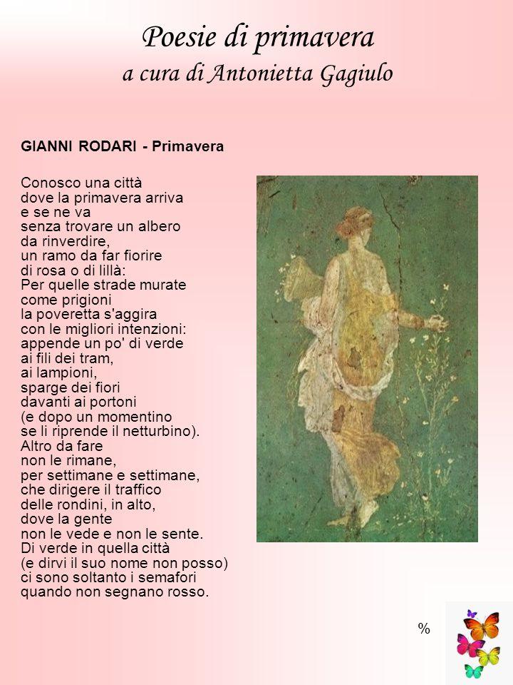 Poesie di primavera a cura di Antonietta Gagiulo