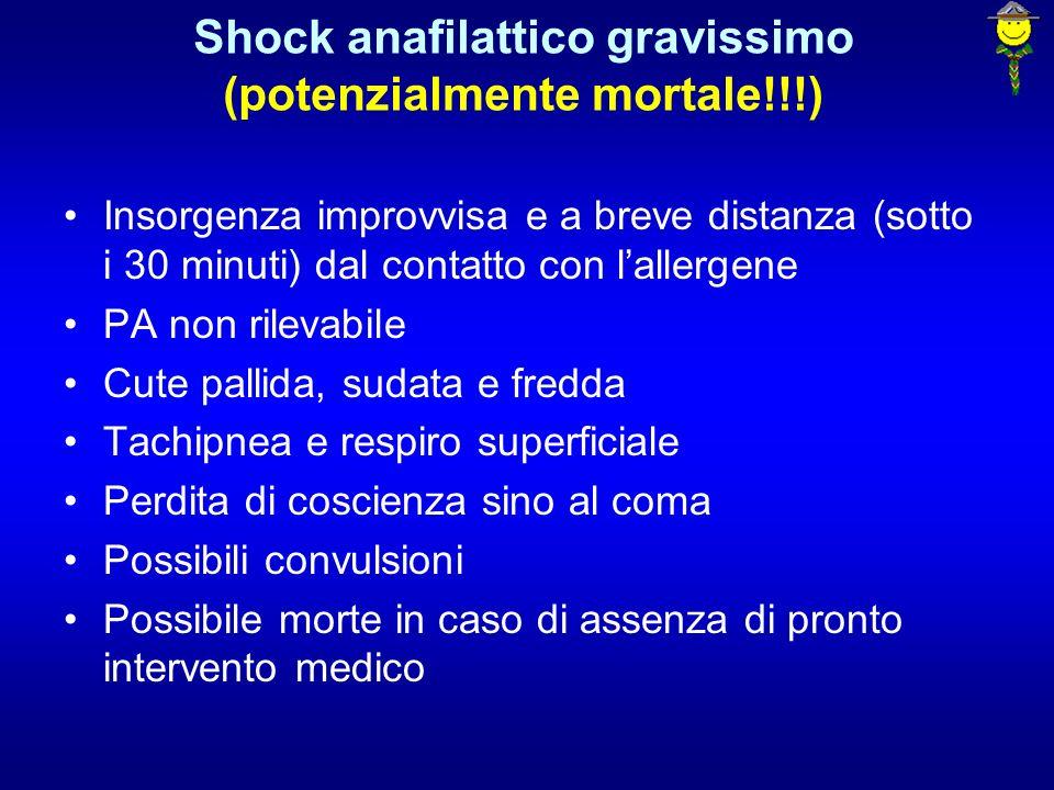 Shock anafilattico gravissimo (potenzialmente mortale!!!)