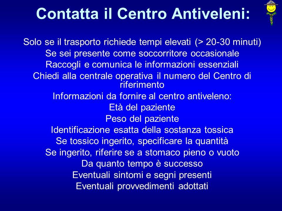 Contatta il Centro Antiveleni: