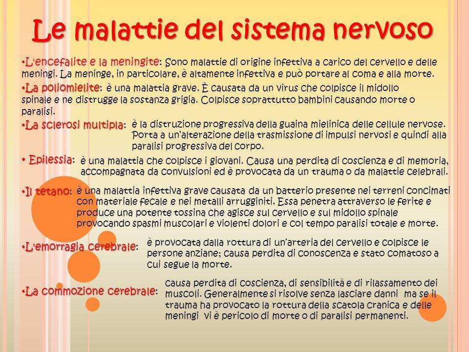 Le malattie del sistema nervoso